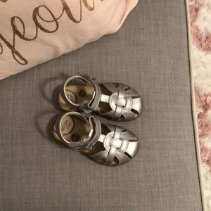 Stride Rite new w/o box silver sandals size 6.5